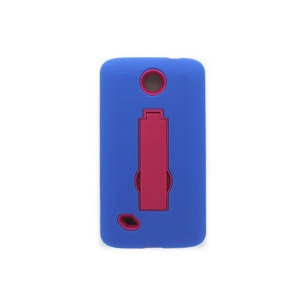 unimax u673c. open mobile blue/pink hybrid case with stand for unimax u673c p