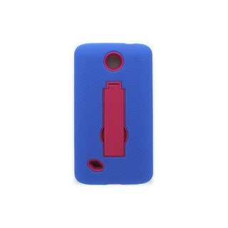 Open Mobile Blue/Pink Hybrid Case with Stand for Unimax