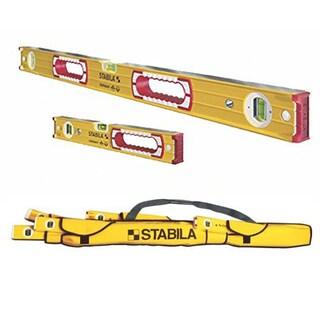 Stabila 37816 Heavy Duty 48-Inch & 16-Inch Type 196 Aluminum Box Beam Level Set