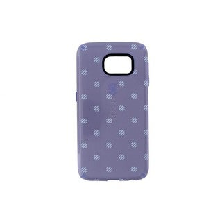 Case Mate Speck CandyShell Inked Purple Polka Dot Samsung Galaxy S6 Phone Case
