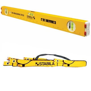 "Stabila 29124 24"" Type 80A-2 Measuring Stick Level w/ 59-Inch Padded Nylon Case"