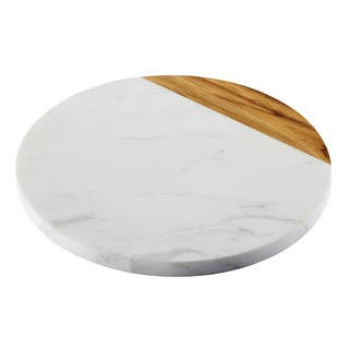 Anolon Pantryware White Marble / Teak Wood Serving Board, 10-Inch Round|https://ak1.ostkcdn.com/images/products/12732716/P19511636.jpg?impolicy=medium