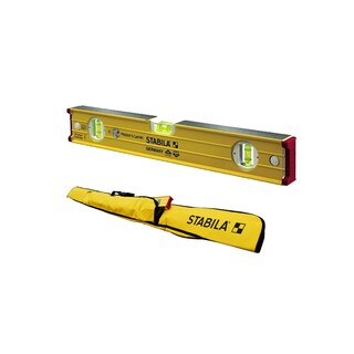 Stabila 16-Inch builders level, Magnetic, High Strength Frame, Accuracy w/ 6-Pocket Jamber Case