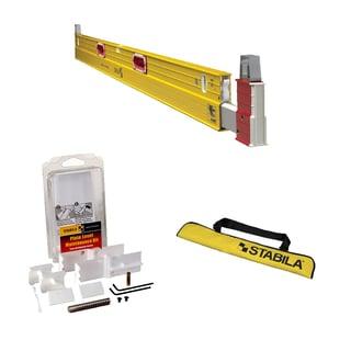 Stabila 35712 Construction Level w/ Level Case plus 24-Inch, 48-Inch Level & Pla