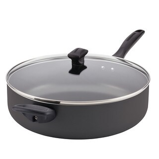 Farberware Dishwasher Safe Nonstick Aluminum Covered Jumbo Cooker with Helper Handle, 6-Quart