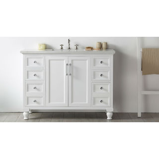Legion Furniture Quartz Top 48-inch White Single Bathroom Vanity