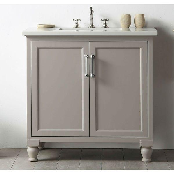 Legion Furniture Quartz Top 36 Inch Warm Grey Single Bathroom Vanity Free Shipping Today