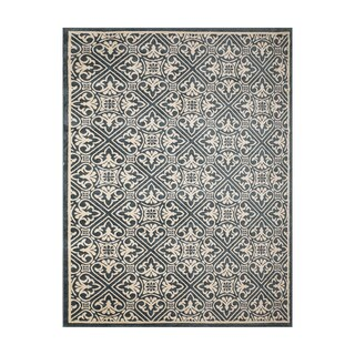 "Machine Woven Oak Lawn Steel Blue Polypropylene Rug (7'5"" x 10')"