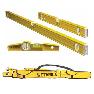 "Stabila 3 Level Pro-Set - Includes 48"", 24"" and Die-cast Torpedo with Rare Earth"
