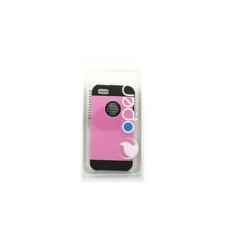 Open Mobile Pink and Black Armor Case for Apple iPhone SE 5S