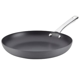 Farberware Hard-Anodized Nonstick Skillet, 12-Inch, Gray