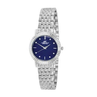 Women's Swiss Stainless Steel & Crystal Watch Design by Adee Kaye|https://ak1.ostkcdn.com/images/products/12733563/P19512383.jpg?impolicy=medium