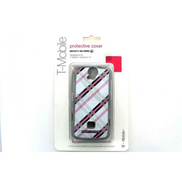 T-Mobile Body Glove Gray with Pink and Black Huawei MyTouch Q Case
