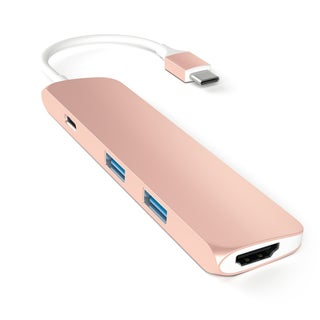 Satechi Slim Aluminum Type-C Charging Port Multi-Port Adapter with 4K HDMI Video Output and 2 USB 3.0 Ports (4 options available)