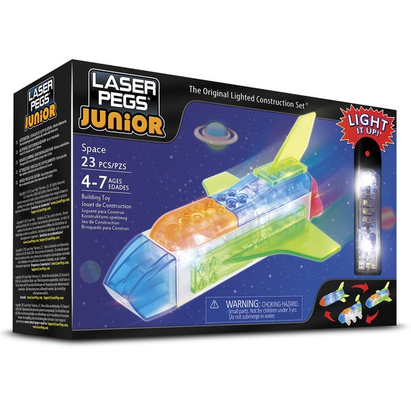 Laser Pegs Junior 3-in-1 Space Lighted Construction Toy