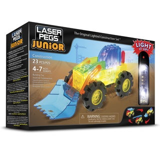 Laser Pegs Junior Multicolor Plastic 3-in-1 Light-up Construction Vehicle Toy