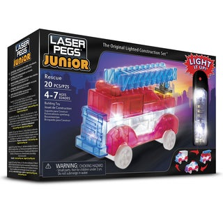 Laser Pegs Junior 3-in-1 Rescue Vehicles Lighted Construction Toy