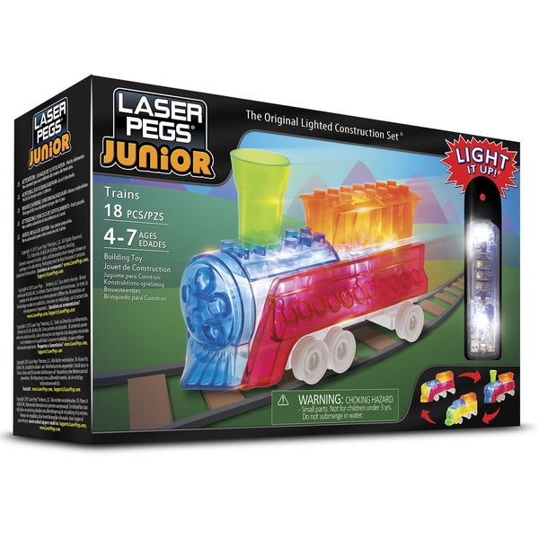 Laser Pegs Junior 3-in-1 Plastic Trains Lighted Construction Toy