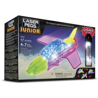 Laser Pegs Junior Multicolored Plastic 3-in-1 Jets Lighted Construction Toy