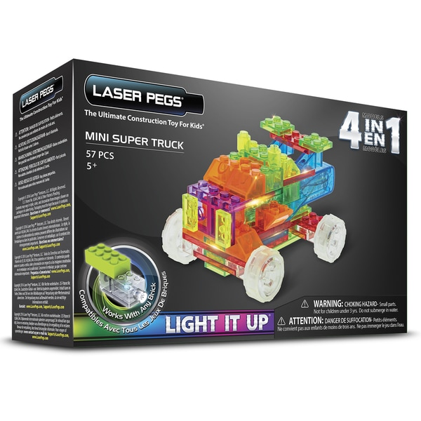 Laser Pegs 4-in-1 Mini Super Truck Lighted Construction Toy