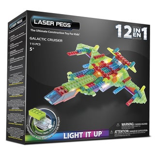 Laser Pegs 12-in-1 Galactic Cruiser Lighted Construction Toy
