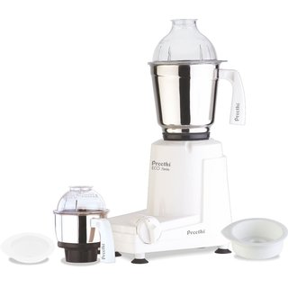 Preethi Eco White 550-watt Twin Jar Mixer Grinder