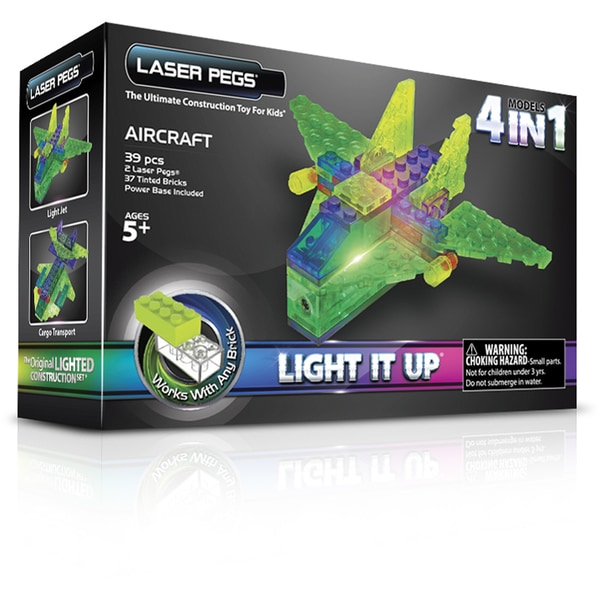 Laser Pegs MPS 4 in 1 Aircraft Lighted Construction Toy