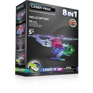Laser Pegs 8-in-1 Helicopter Lighted Construction Toy