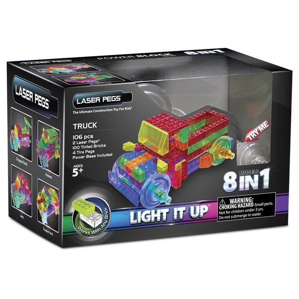 Laser Pegs Power Block 8-in-1 Truck Lighted Construction Toy