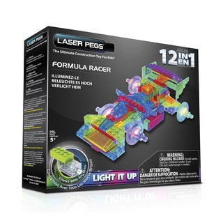 Laser Pegs Multicolor Plastic 12-in-1 Formula Racer Light-up Toy
