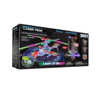 Laser Pegs 30-in-1 Supercopter Lighted Construction Toy