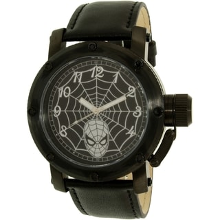 Disney Spider-Man SPM149 Black Leather Men's Quartz Watch