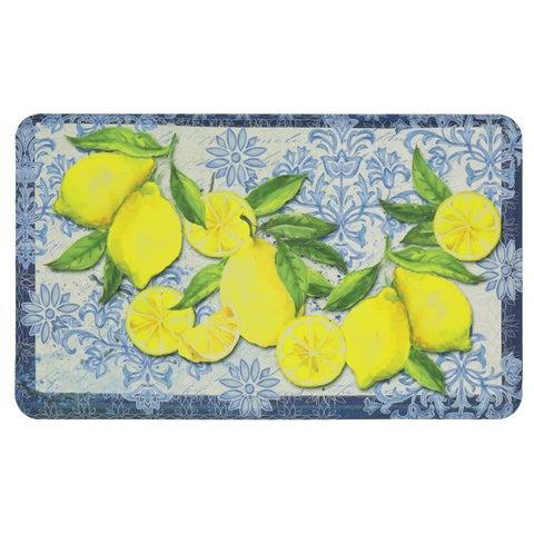 "Mohawk Classy Italian Lemons Dri- Pro Comfort Mat (1'6 x 2'6) - Yellow/Cream/Blue - 1'6"" x 2'6"""