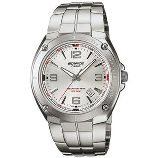 Casio Men's Edifice Silver Stainless Steel Quartz Watch