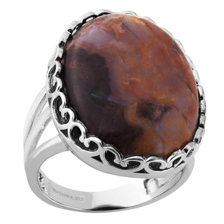 Sterling Silver and Jasper Ring