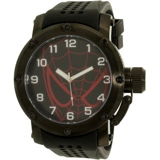 Disney Men's Spider-Man SPM147 Black Silicone Quartz Watch