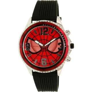 Disney Amazing Spider-Man Men's Black/Red Silicone Quartz Watch