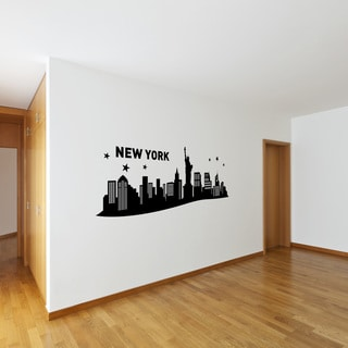 Style and Apply New York III City Skyline Vinyl Cityscape Wall Decal
