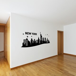 Style and Apply New York III City Skyline Vinyl Cityscape Wall Decal (More options available)