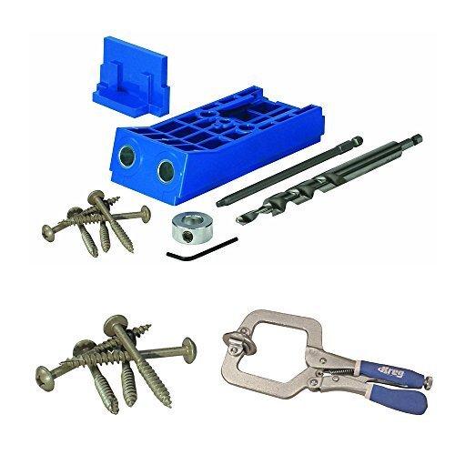 Kreg Tool Company KJHD Jig HD with Pocket Hole Screws (125 Ct ) and Face  Clamp