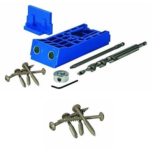 Kreg Kjhd Jig With Extra 125 Pocket Hole Screws, Blue