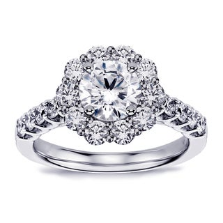 Platinum 2 1/5ct TDW Halo Brilliant-cut Diamond Engagement Ring (G-H, SI1-SI2)