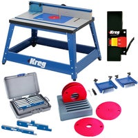 Kreg shop stand router table fence router table top table setup kreg prs2100 bench top router table w essential accessories greentooth Image collections