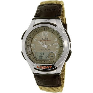 Casio Men's AQ180WB-5BV Brown Nylon Quartz Watch