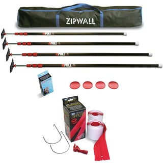 ZipWall 10 4-Pack Dust Barrier System w/ 2-Pack Heavy Duty Zipper