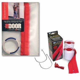 ZipWall ZipDoor Kit w/ 2-Pack Heavy Duty Zipper