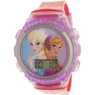 Disney Girls' Frozen FNFKD013 Purple Rubber Quartz Watch