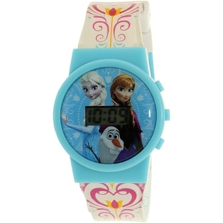 Disney Girls' 'Frozen' FNFKD041S Blue Plastic and Quartz Watch