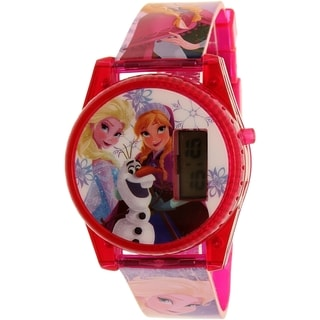 Disney FNFKD071 Frozen Girl's Pink Plastic Quartz Watch