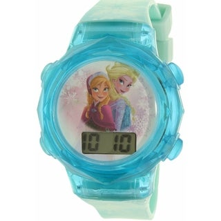 Disney Girls' 'Frozen' FNFKD120 Blue Plastic Quartz Watch